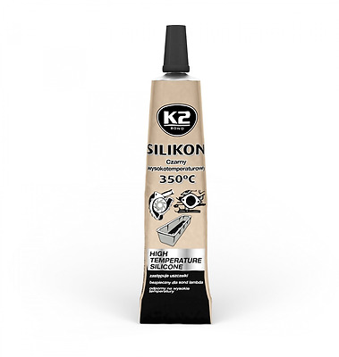 K2 High Temperature 350° Heat Resistant Black Silicone Sealant Adhesive 21g NEW