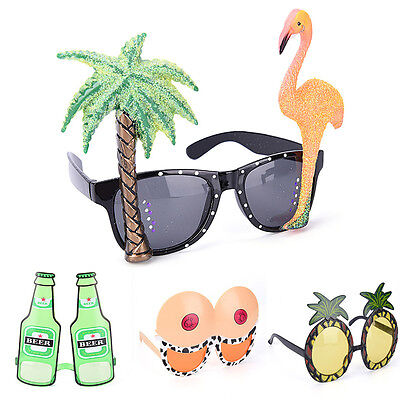 Funny Hawaiian Tropical Sunglasses Glasses Summer Fancy Dress Party Costume UK