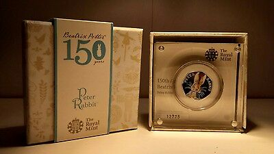 A 2016 silver proof limited edition of Beatrix Potters most beloved Peter Rabbit