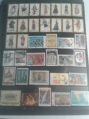 Greece  STOCK SHEET OF MODERN STAMPS  Off paper ( 1 )   USED