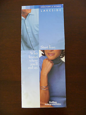 Lakeside Mall Directory of Stores Map - Sterling Heights Michigan - circa 2000