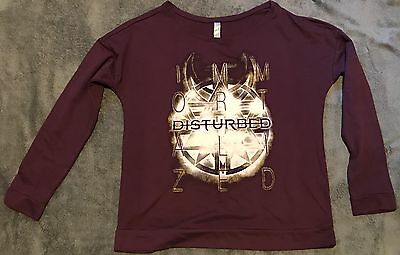 """New Disturbed Ladies Scoop Neck Long Sleeve Large """"Immortalized"""" Shirt"""