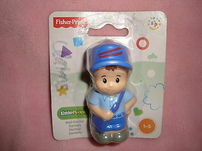 2013 Mattel Fisher Price Little People Mail Carrier PVC Figure NIP