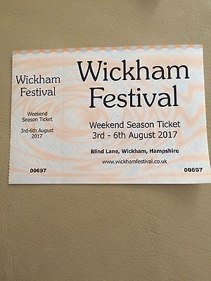 Wickham Festival Weekend And Camping Ticket