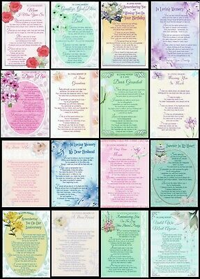 GRAVE CARD ~ DESIGNS FOR EVERYONE 50 designs to choose from With FABULOUS VERSES