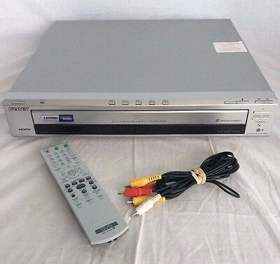 Sony DVD-NC85H DVD/CD Video/Audio Player 5-Disc HDMI Carousel Changer w/ Remote