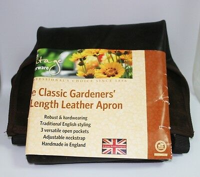 New - Haws Heritage Classic Gardeners' Full Length Leather Apron-Free Shipping