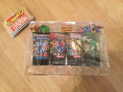 NEW Adult MENS MARVEL COMICS 4x 75ml Toiletries Set With Travel Bag FREE UK P&P