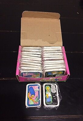 NOS Full Box of 24 Vintage Magnets The Simpsons Marge Homer 1990 Hamilton Gifts
