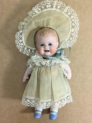 """4.5"""" Bisque Laurine Brock Bonnie Babe Reproduction Doll"""