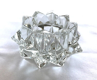 Vintage Avon Gem Glow Candle Holder -  Glass -1981 No Candle