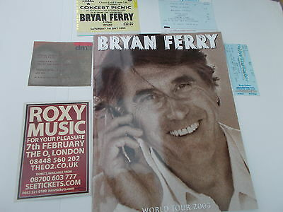 Brian Ferry Concert Programme And Ticket Collection