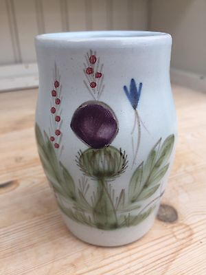 Buchan Stoneware Vase With Thistle Decoration