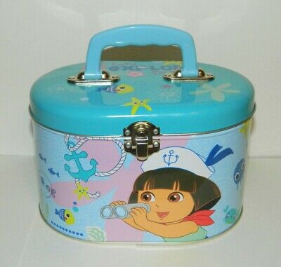 Dora the Explorer Illustrated Tin Sewing Box Tote Style B, NEW UNUSED