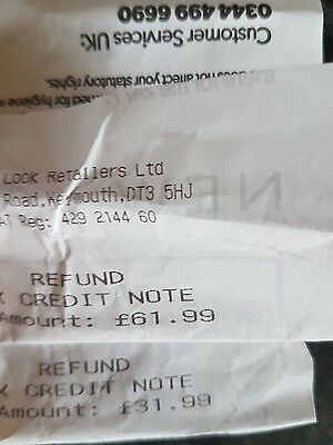 £93.98  new look credit notes/ gift cards