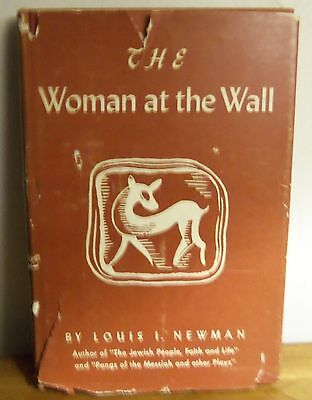 Rare 1958 WOMAN AT THE WALL by Louis Newman SIGNED 3 ACT PLAY