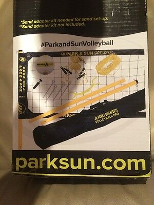 Park & Sun Sports Volleyball Pro 2000 Professional System Adjustable Net Grass