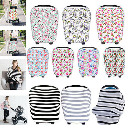 Nursing Breastfeeding Privacy Cover Baby Scarf Infant Car Seat Canopy Stroller