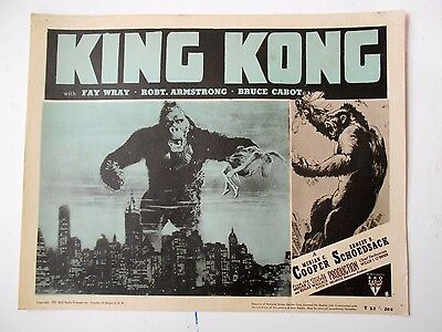 King Kong lobby card famous giant monsters Fay Wray Willis O'Brien sci-fi horror