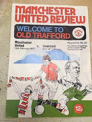 Manchester United Review V Liverpool 1977 Programme 22