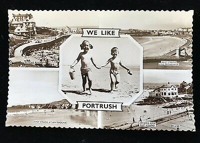 Real Photo Postcard We Like Portrush, Multi-View posted 1962 - PCBOX1