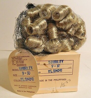 Doll Wig - Shirley - Size 9-10 - Blonde - Global Dolls In Original Box & Tag