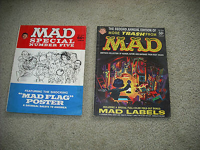 lot of 2 MAD MAGAZINES COLLECTOR ISSUES FROM 1960 & 1972  . WOW.