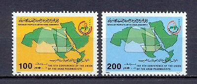 Libya 1984 - Stamps 2v - The 9th Conference of the Union of the Arab Pharmacists
