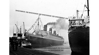 Photographic Glass Slide Maiden Voyage Of Queen Mary Liner Southampton 1936