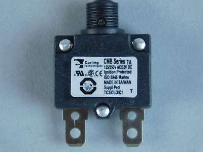 Carling Technologies 1-Pole, 7A Thermal Pushbutton Circuit Breaker CMB-073-11...