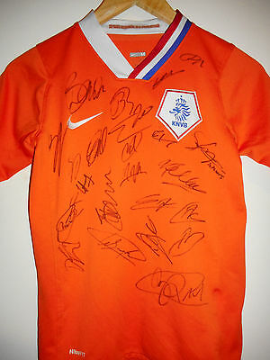 Netherlands Holland signed football shirt by World Cup 2010 Squad inc COA