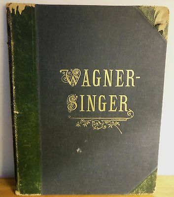 Rare 1917 PHANTASIEN uber Opern Wagner for Pianoforte solo OTTO SINGER Peters