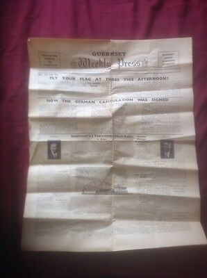 Guernsey Weekly Press Newspaper Dated May 15th 1945