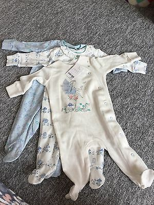 BNWT Next Baby Girl Fairy Sleepsuits 3-6 Months