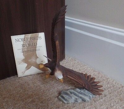 Franklin Mint - Noble Birds Of The World - American Bald Eagle - Excellent