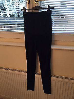 Soft Black Maternity Skinny Trousers Jeans H & M Size 10/36 Small
