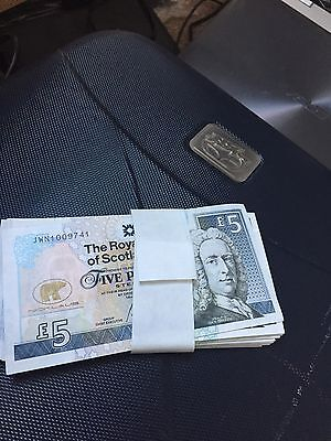 10 x RBS Jack Nicklaus £5.00 Bank Notes - untouched