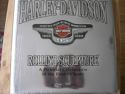 Motorcycle Book Harley-Davidson Rolling Sculpture 95 Years Celebration Book Rare