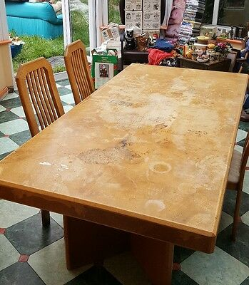 large oak table and chairs