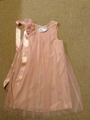GIRLS PINK PARTY/BRIDESMAID DRESS SPARKLING BY M&Co 6-7 years