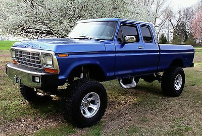 1978 Ford F-100  1978 Ford 4x4 truck Bigfoot gorgeous head-turning Blue Monster No Reserve