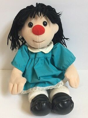 "Big Comfy Couch Molly Doll 17"" Vintage 1995 Plush Doll Blue Dress Commonwealth"
