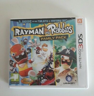 Juego nintendo 3ds rayman and rabbids family pack