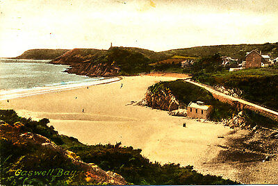 Glamorganshire - Postcard of Caswell Bay, Gower, Swansea - 1920/30s ??