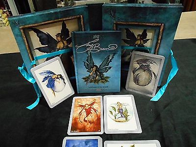 Amy Brown Faery Wisdom Deck Of Tarot Cards With Black And White Instruction Book