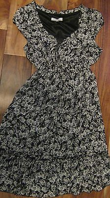 New look Girls/Womens Black and White Floral Dress Size 6