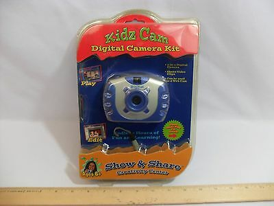 New! Sealed! Kidz Cam - Blue Digital Camera Kit - Show & Share - Free Shipping