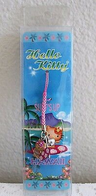 Sanrio 2006 Hello Kitty Cell Phone Charm Strap ~ Surfs Up Hawaii (New!)