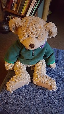 "Russ Berrie Large Teddy Bear George In Fleece 15"" Plush Soft Stuffed Toy"