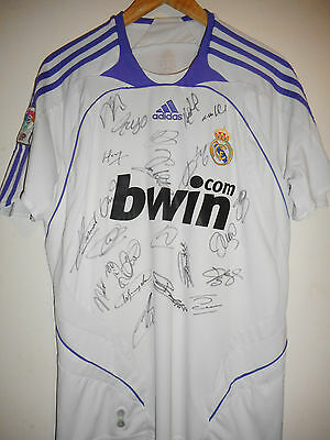 Real Madrid signed football shirt by a superstar squad  inc COA - Spain